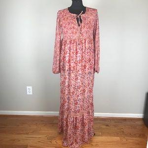 Long Sleeve Floral Maxi Dress